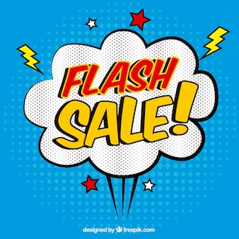 Sfondo blu vendita flash