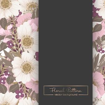 Sfondo bordo floreale - bordo fiore rosa