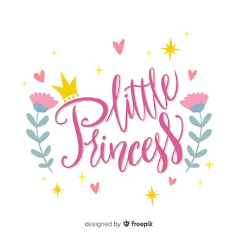 Sfondo calligrafico principessa