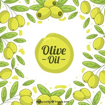Sfondo carino con le olive