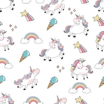 Sfondo carino con unicorno