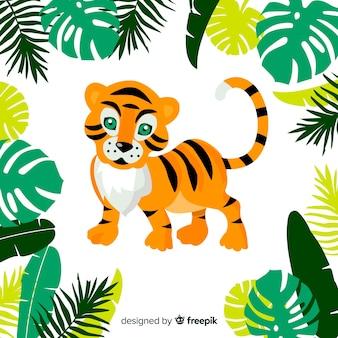 Sfondo carino tigre