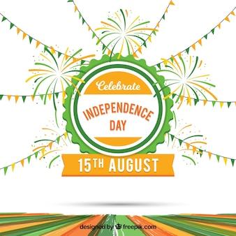 Sfondo celebrazione di india indipendenza giorno