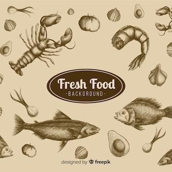 Sfondo cibo realistico