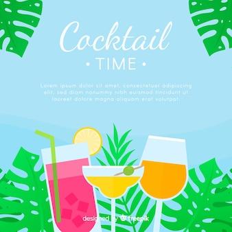 Sfondo cocktail piatta
