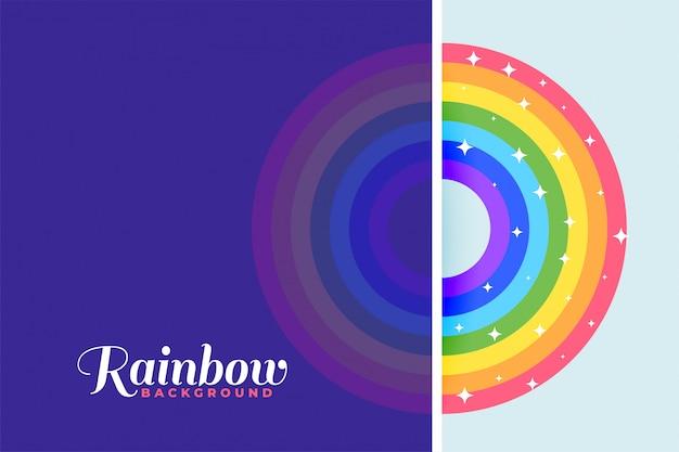 Sfondo colorato arcobaleno con stelle scintillanti