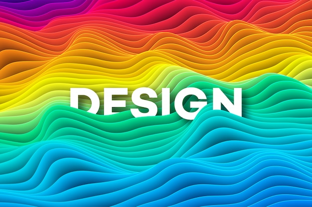 Sfondo colorato arcobaleno curva. illustrazione