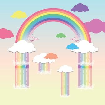 Sfondo colorato arcobaleno