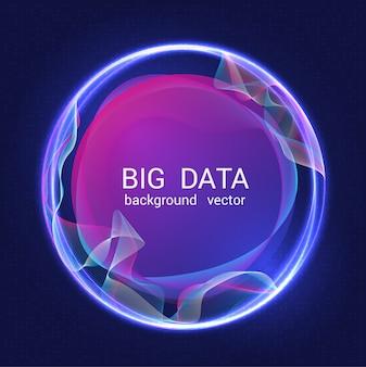 Sfondo colorato astratto di grandi quantità di dati