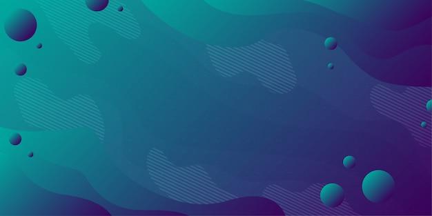 Sfondo colorato astratto e gradazione utilizzando geometria minima e forma d'onda