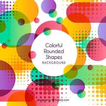 Sfondo colorato con forme arrotondate