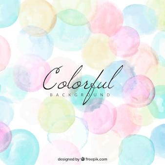 Sfondo colorato con punti acquerello