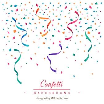 Sfondo colorato coriandoli in stile piano