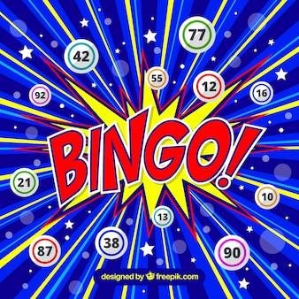 Sfondo colorato del bingo