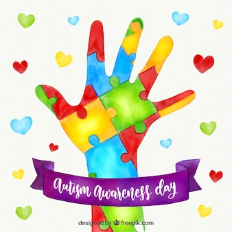 Sfondo colorato del giorno dell'autismo mondiale