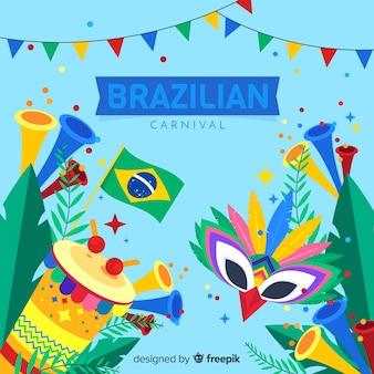 Sfondo colorato di carnevale brasiliano