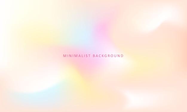 Sfondo colorato e minimalista