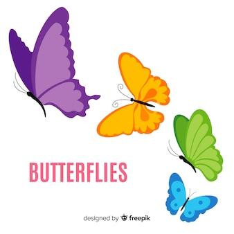 Sfondo colorato farfalla