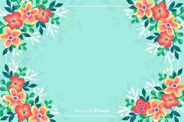 Sfondo colorato fiori dipinti