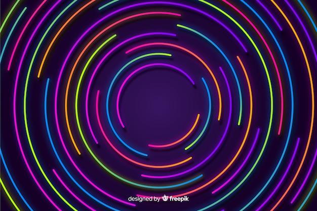 Sfondo colorato forme geometriche al neon