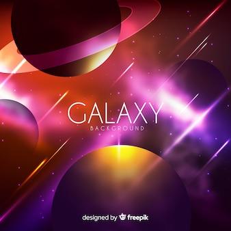 Sfondo colorato galassia con un design realistico
