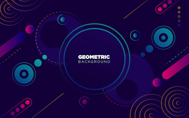 Sfondo colorato geometrico e astratto, con colori al neon viola e blu