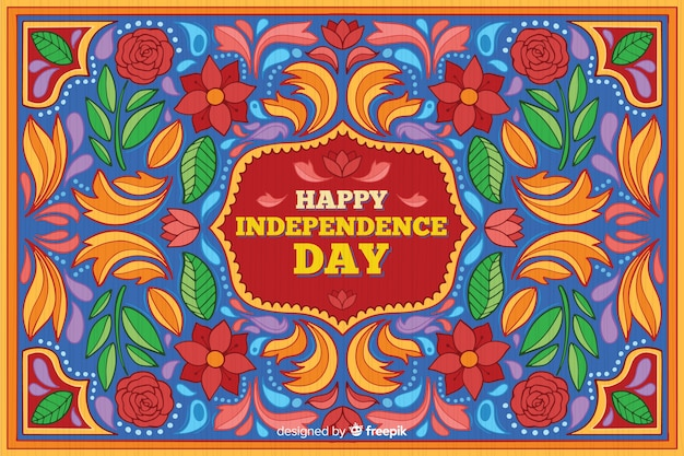 Sfondo colorato indiano festa dell'indipendenza