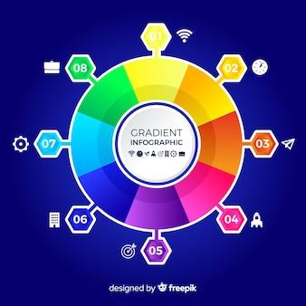 Sfondo colorato infografica piatta