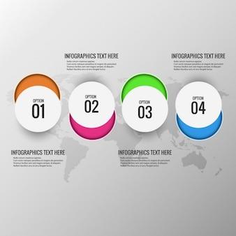 Sfondo colorato infografica