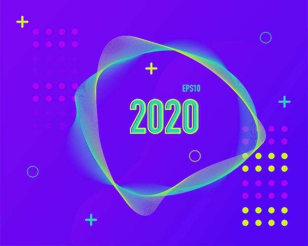 Sfondo colorato moderno linea 2020.