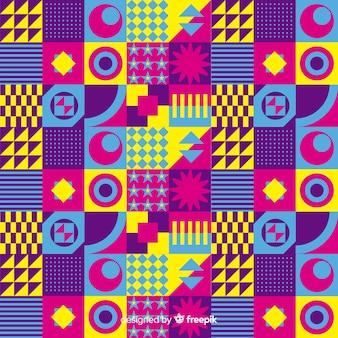 Sfondo colorato mosaico con forme geometriche