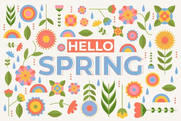 Sfondo colorato primavera piatta