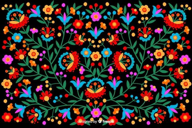 Sfondo colorato ricamo messicano