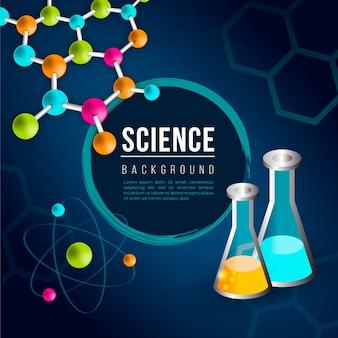Sfondo colorato scienza disegno realistico