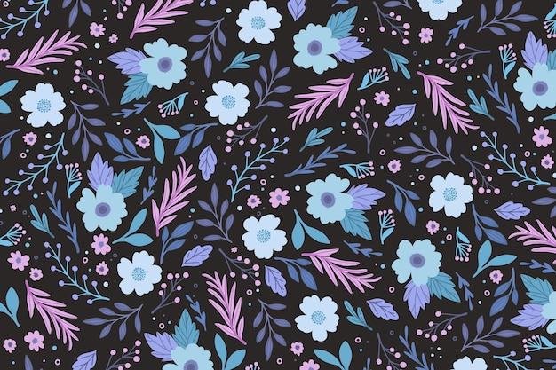 Sfondo colorato stampa floreale ditsy