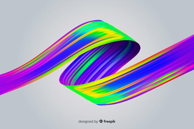 Sfondo colorato tratto pennello olografico