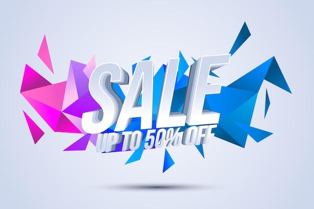 Sfondo colorato vendite 3d
