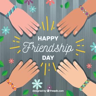 Sfondo con braccialetti di amicizia