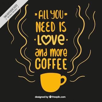 Sfondo con caffè frase ispiratrice