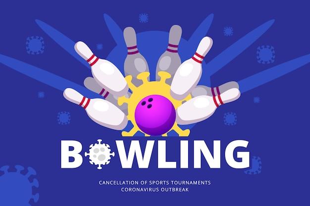 Sfondo con eventi sportivi cancellati
