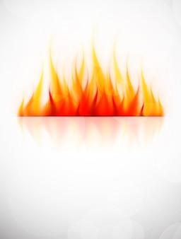 Sfondo con fiamma di fuoco.