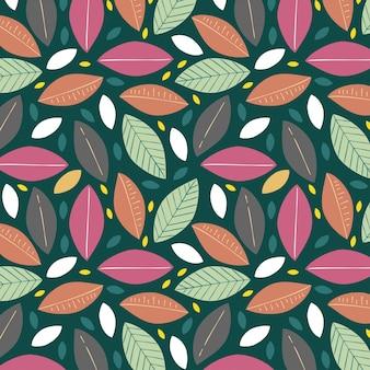 Sfondo con foglie colorate d'estate