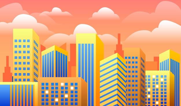 Sfondo con il concetto di città urbana