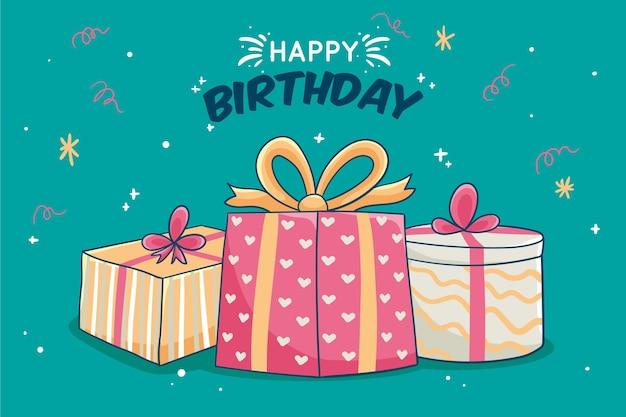 Sfondo con il concetto di compleanno