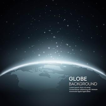 Sfondo con il globo della terra del pianeta