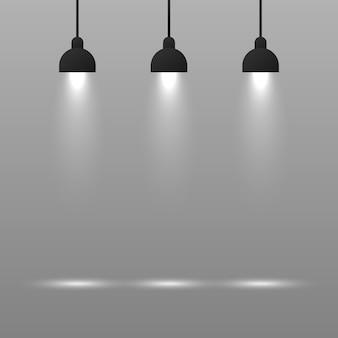 Sfondo con lampada di illuminazione.