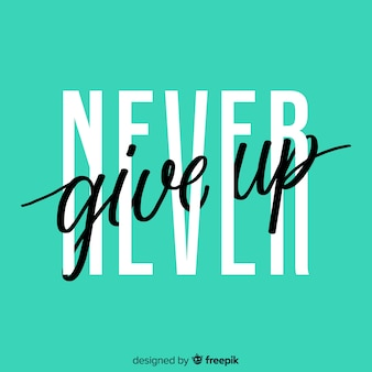 Sfondo con lettering citazione motivazionale