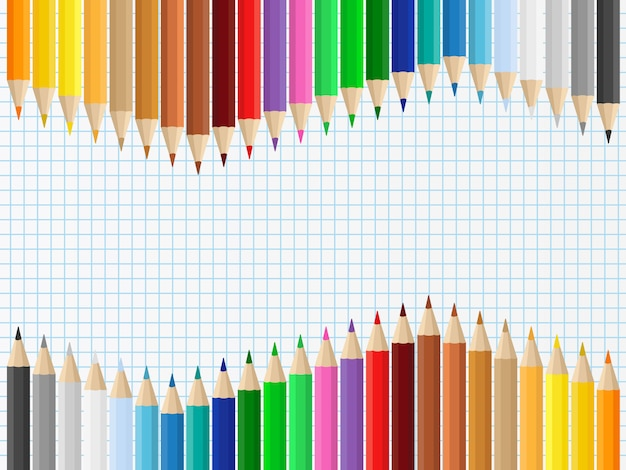 Sfondo con matite colorate