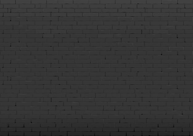 Sfondo con muro di mattoni nero