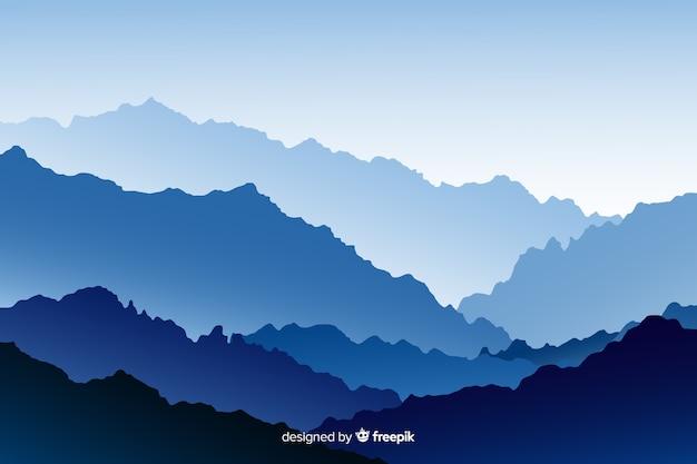 Sfondo con paesaggio di montagne
